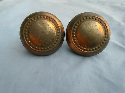 Vintage brass door knobs. Two knobs. Beautiful design. Use for many things.