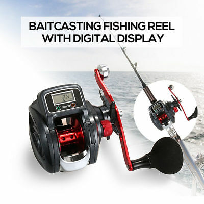 Baitcasting Fishing Reel Baitcaster 9+1 Ball Bearing Digital Linecounter Wheel