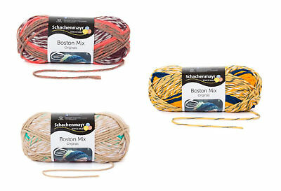 Wollpaket 3x 100 g Schachenmayr Boston Mix zum Sonderpreis 49,83 €/kg