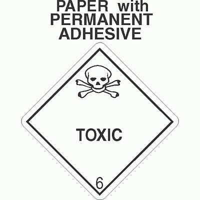 L-331 Toxic Class 6.1 Paper Labels D.O.T. 4X4 (ROLL OF 500)