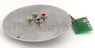 Phono Plate Fits Technics Sl1200 Sl1210 Replaces Rca Cord Cable Ground Free