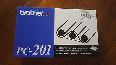 NEW Factory Sealed Brother Genuine PC-201 Black Printing Cartridge FREE SHIPPING