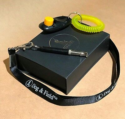 Dog & Field Whistle & Clicker Training Gift Set with Lanyard - Perfect Training!