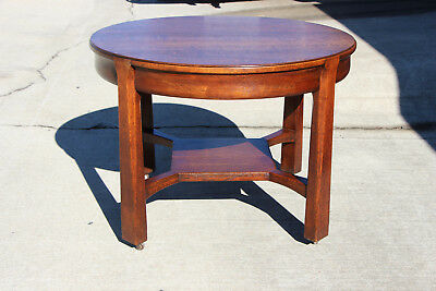 Fantastic Mission Oak Arts and Crafts Library Table with Drawer Ca.1910