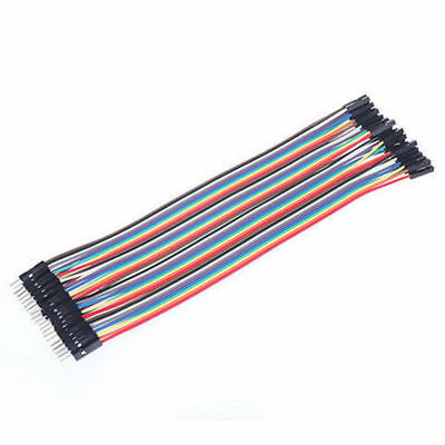 Multicolor Durable 40pcs 2.54mm Breadboard GPIO Reusable Dupont Wire