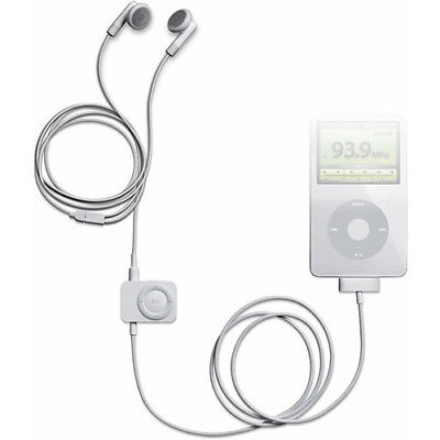 Originale Apple iPod FM Radio Remote & Headphones MA070G/D New In Box