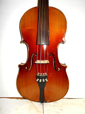 "Antique Old Vintage German ""Stradiuarius"" Full Size Violin - No Reserve"