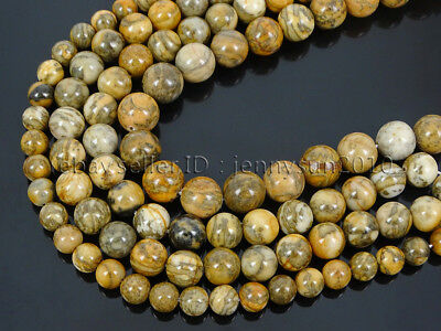 Natural Magic Yellow Jasper Gemstone Round Spacer Beads 15.5'' 4mm 6mm 8mm 10mm
