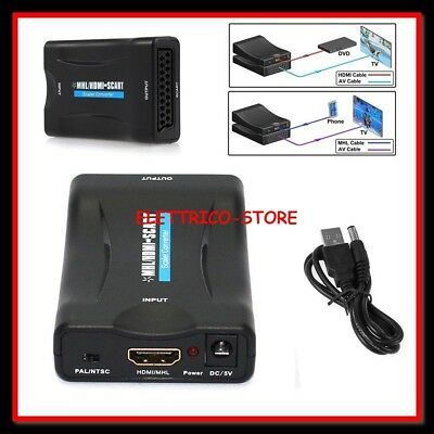 Convertitore video adattatore audio adatto DVD 1080P da HDMI a SCART COMPOSITO