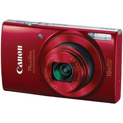 Canon CND1087C001 PowerShot 20.0 MP ELPH 190 IS Camera - Red