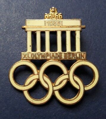 XI. Olympiade Berlin 1936 Original Medaille Pin Emailiert Sehr Selten