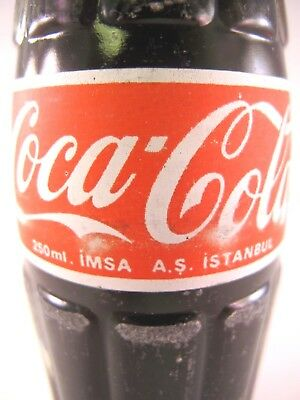YAVA Glass - RARE Vintage COCA-COLA FULL Bottle (ISTANBUL)