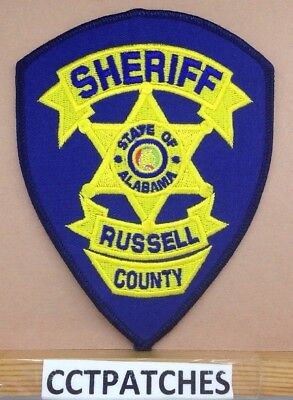 Russell County, Alabama Sheriff (Police) Shoulder Patch Al