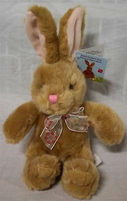"Russ VALERIE THE TAN EASTER BUNNY RABBIT 9"" Plush STUFFED ANIMAL Toy NEW"