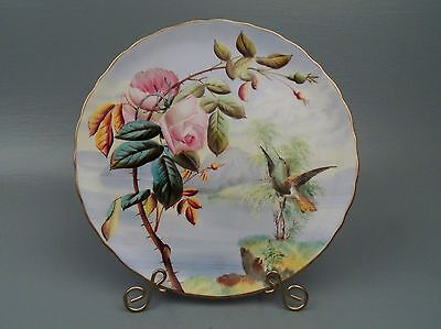 George Jones Hummingbird Porcelain Cabinet Plate Raised Decoration PC