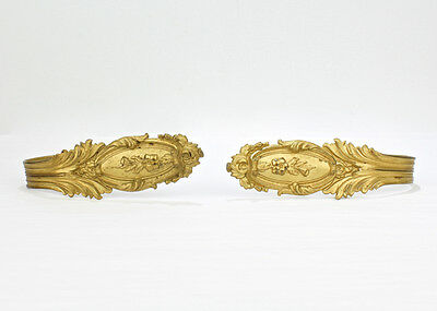 2 Antique Ornate French Gilt Metal Curtain Tie Backs - Ormolu Dore VR