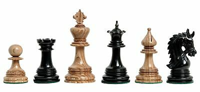 "The Preston Luxury Chess Set - Pieces Only - 4.4"" King -Striped Black Lima and G"