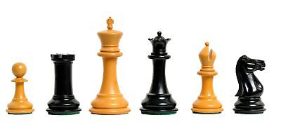 """The Morphy Luxury Chess Set - Pieces Only - 4.4"""" King Ebonized & Antiqued Boxwoo"""