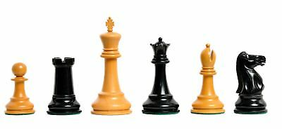 """The Broadbent Luxury Chess Set - Pieces Only - 4.4"""" King - Genuine Ebony"""