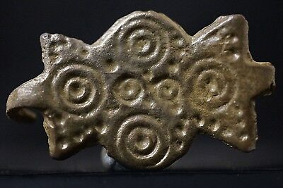 Ancient Viking Bronze Amulet depicting Norse Cross, circa 950-1000 AD. Cleaned.