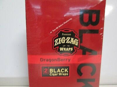 Zig Zag Cigar Wraps 2 Per Pack Dragonberry 25 Packs Per Box Sealed Box