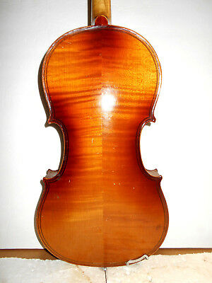 "Old Antique Vintage ""Konzert"" 2 Pc Back Full Size Violin - No Reserve"