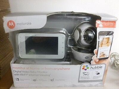 Motorola MBP854 Digital Video Baby Monitor with 4.3 Inch parent Unit Hubble App