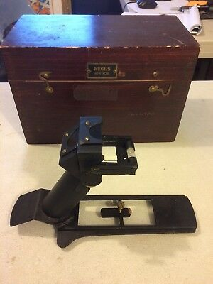 Vintage Negus Ships Azimuth Maritime Device With Box