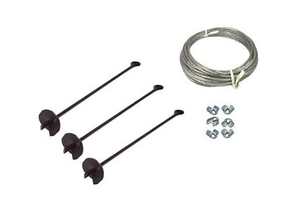 3 Way Earth Anchor Kit -  Down Guy Your Antenna Mast, Storage Building, Etc