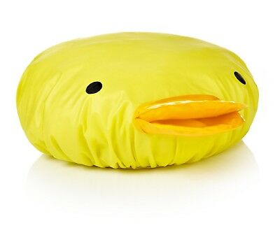 NPW Novelty Rubber Duck Shower Cap Hat - Yellow Duck Shower Cap