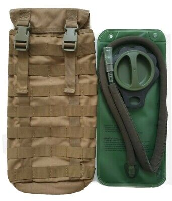 Tas 3699 - Molle Hydration Pouch Khaki 900 Denier Free!! 2Lt Wide Mouth Bladder