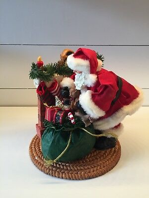 Traditions Santa Centerpiece Fabric Mache Christmas hand crafted filling stockin
