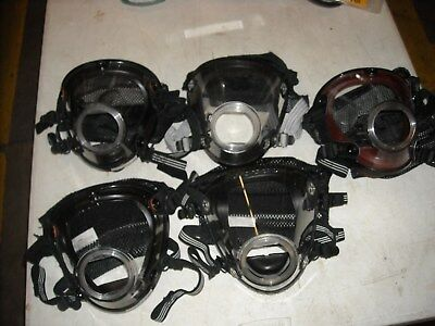 Scott Used Mask Scba Air Pak Pack Firefighter 4 Large & 1 Xl
