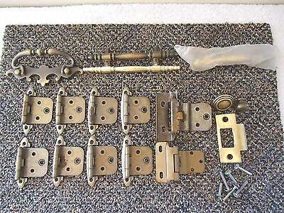 "Vintage Mixed Lot Of 17 Hinges,Drawer Pulls,etc."" GREAT MISC.LOT """