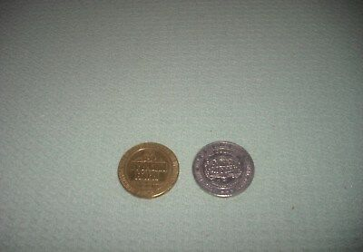 Vintage Two One Dollar Casino Gaming Tokens Golden Nugget Overland Hotel