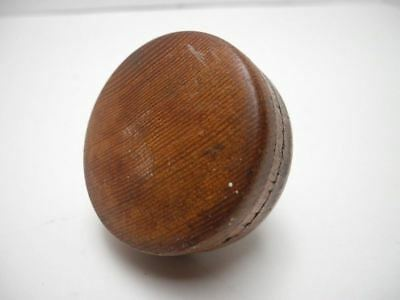 "Antique Solid Wood 2.6"" Diameter Door Knob with Metal Collar"
