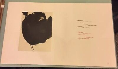 Signed ROBERT MOTHERWELL Limited Editions Clubs LITHOGRAPH Paz THREE POEMS