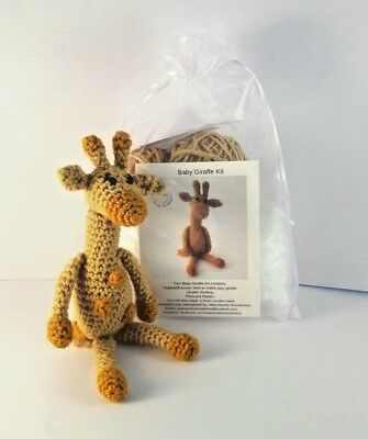 Crochet Kit - Baby Giraffe Mini Crochet Kit - Craft birthday mother's day gift