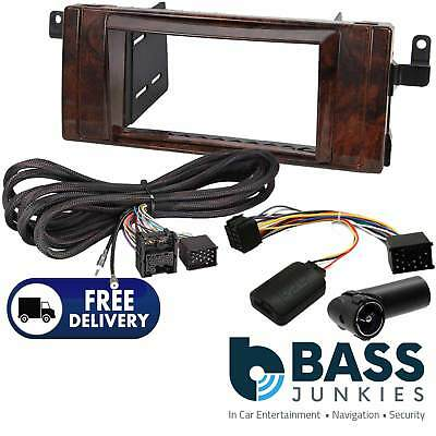 BMW 5 Series E39 99-05 Double Din Fascia & Rear Extension Steering Kit CT23BM09