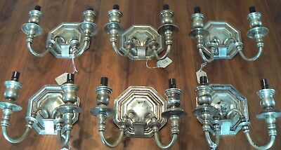 (6)  E. F. Caldwell Silver Sconces With 1984 Christie's Auction Provenance.