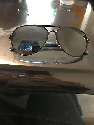 NEW* Oakley TIE BREAKER Aviator Blackberry Women's Black Irid Sunglass 4108-05