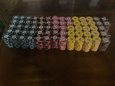 Paulson Top Hat and Cane World. 1340 Chip Poker Set. Very Rare!!! Free Shipping!