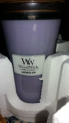 Massage Therapy Spa Special Woodwick Lavender Spa Candle Lg. 22oz. Hourglass