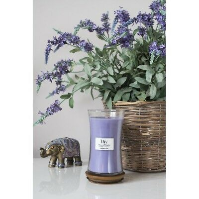 Massage Therapy Spa Special Woodwick Lavender Vanilla Candle Lg. 22oz. Hourglass