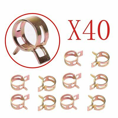"ID 0.43"" inch 11mm Spring Band Clip Fuel Silicone Vacuum Hose Clamp 40 PCS"