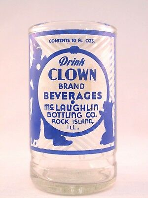 YAVA Glass - Upcycled RARE Vintage Collectible CLOWN Beverages Bottle Glass
