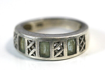 """D418 Lattice Intricate Band Sterling 925 1/4"""" wide Ring Size 7"""