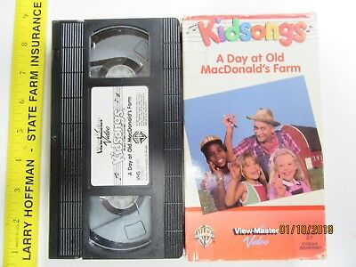 Kidsongs A Day At Old MacDonald's Farm VHS OOP TESTED Box Shipped