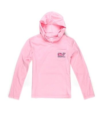 New Girls Vineyard Vines T Shirt Graphic Hoodie Tee Love Whale Kisses Pink L/S