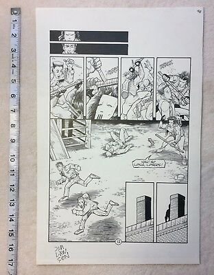 TEENAGE MUTANT NINJA TURTLES 48 volume 1 Original Art feat. Casey Jones! TMNT